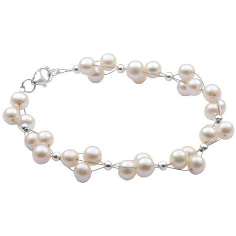 Perlenarmband Hochzeit by Armband Aus S 252 223 Wasser Perlen Zuchtperlen Creme Wei 223