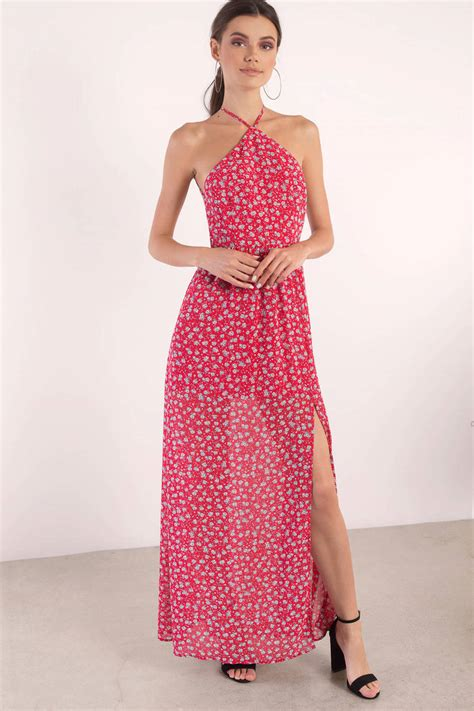 Flowery Dress Maxi dress backless dress country maxi dress