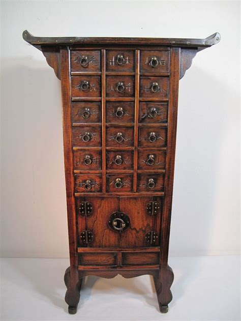 vintage korean unique  drawer herbal medicine cabinet vintage medicine cabinets  drawers