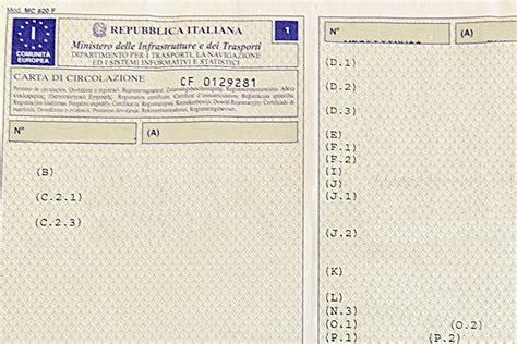 codice fiscale significato lettere come leggere il libretto di circolazione cavalli vapore