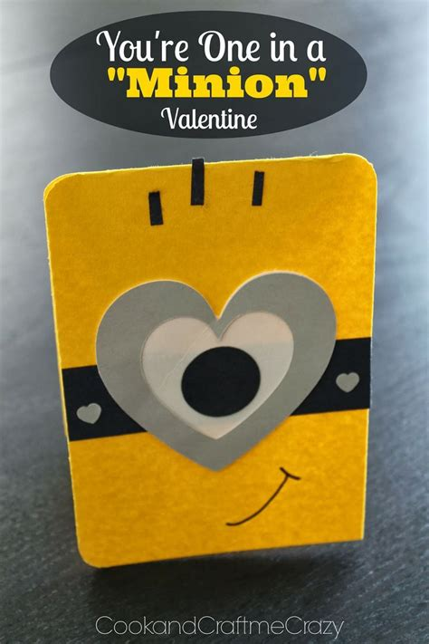 minion valentines day card you re one in a minion this would be a great