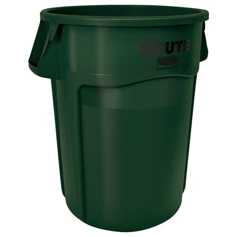 Patio Garbage Can by Shop Rubbermaid Commercial Products 55 Gallon Green