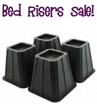 Table Risers Walmart by Bed Risers Sale 9 99 Such A Simple Trick To Maximize The Storage Space Your Bed