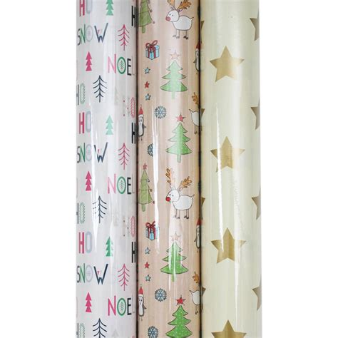 pattern paper hobbycraft assorted christmas wrapping paper 3 m hobbycraft