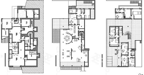 Tugendhat House Plan Wilson Arch329 Kahn Vs Der Rohe