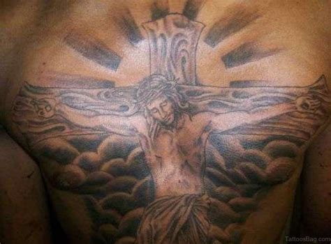 tattoos of jesus on the cross pictures 70 mind blowing jesus tattoos for chest