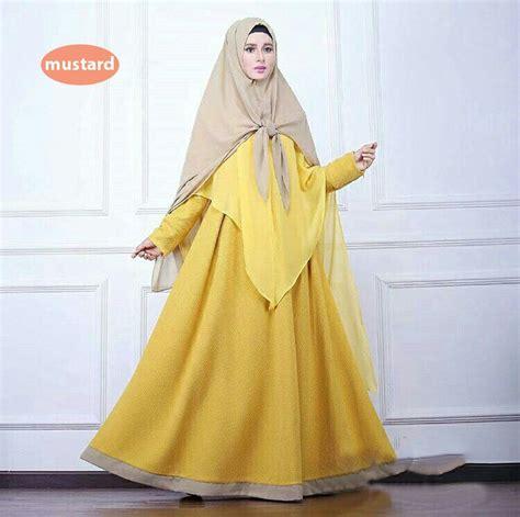 Gamis Wanita Warna Kuning Baju Gamis Bahan Balotelli Kekinian Safana Warna Kuning