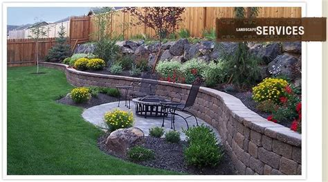 Retaining Wall Backyard Landscaping Ideas Retaining Wall Garden Back 40 Redesign Pinterest