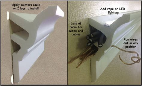 Wiring Recessed Lights Foam Crown Molding For Led And Lighting