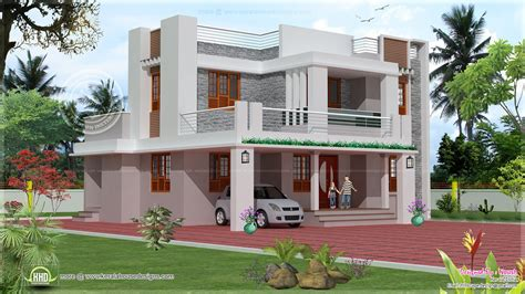 4 bedroom 2 story house exterior design home kerala plans