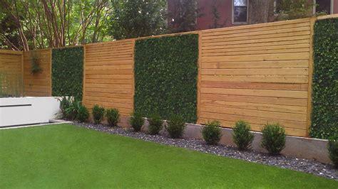 modern backyard fence atlanta landscaping photos
