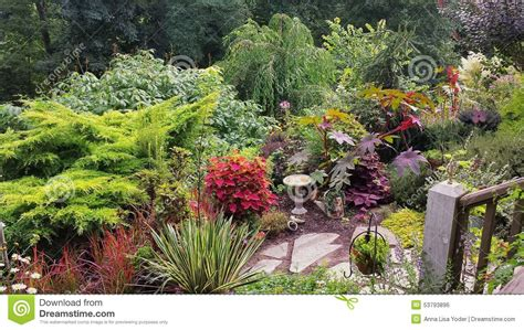 Garden Asheville Nc Lush Colorful Summer Garden In Carolina Stock Photo