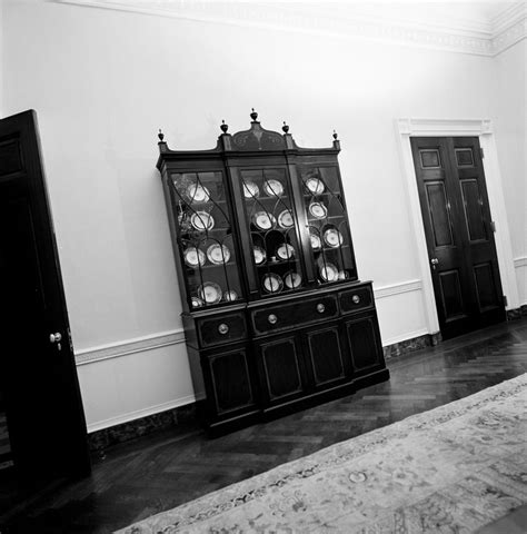 white house furniture in family dining room and queens bedroom chair settee china cabinet