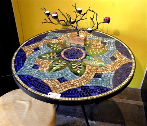 Mosaic Top Patio Table My Had A Beautiful Mosaic Table She Made It S On My Diy Before You Die List Craftier