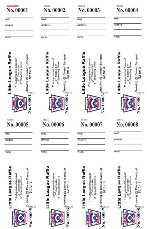 printable raffle tickets with numbers free 7 best images of printable raffle tickets with numbers