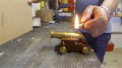 How To Make A Mini Cannon Out Of Paper - black powder mini cannon