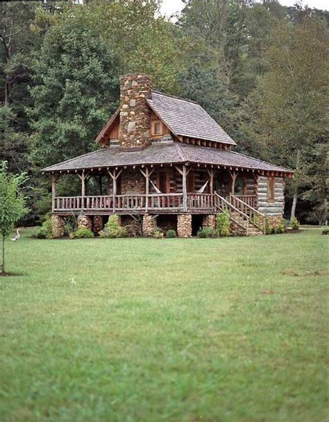 log cabin home with wrap around porch big log cabin homes porches wrap around porches and upstairs loft on pinterest