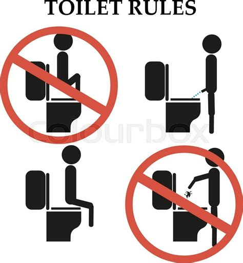 throw poop in a toilet house numbertwoguide toilet rules do not step on the toilet sign stock