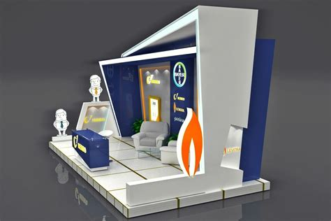 booth design price exhibition booth 3d model rigged max obj cgtrader com