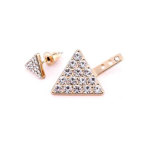 Rhinestone Ear Stud 1 pair rhinestone ear stud simple triangle