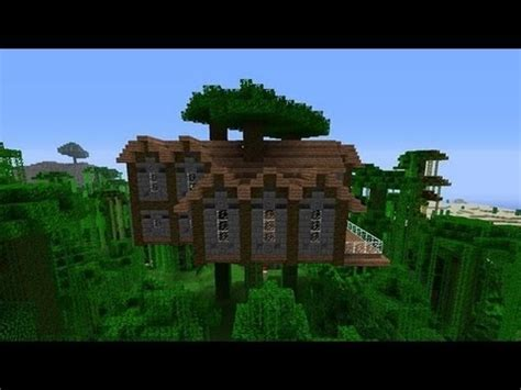 build a mansion how to build a jungle tree house mansion in minecraft youtube