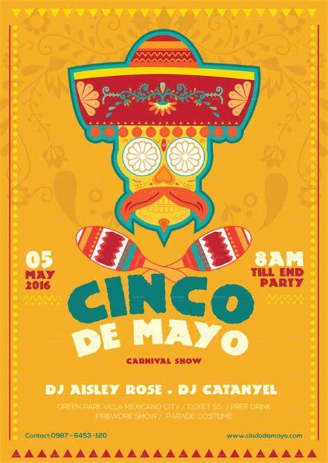 Cinco De Mayo Illustrator Flyer Template Best Flyer For Mayo Parties Cinco De Mayo Template