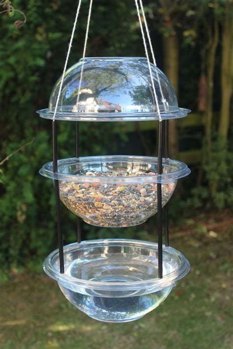 Combi Bl Feeding Bowl 81011 make a hanging combi drinker feeder for the birds with plastic bowls straws