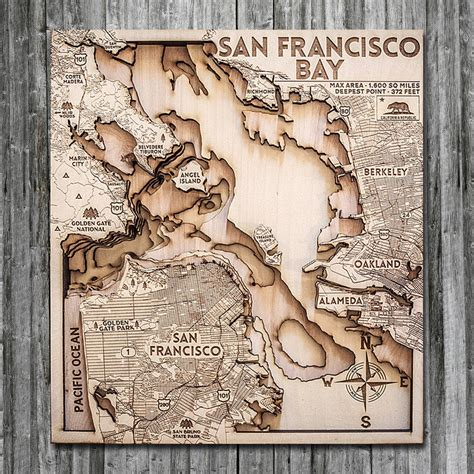 san francisco woodworking class san francisco wood map 3d topogprahic nautical chart