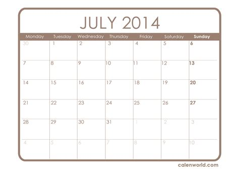 july 2014 calendar template july 2014 calendar printable calendars