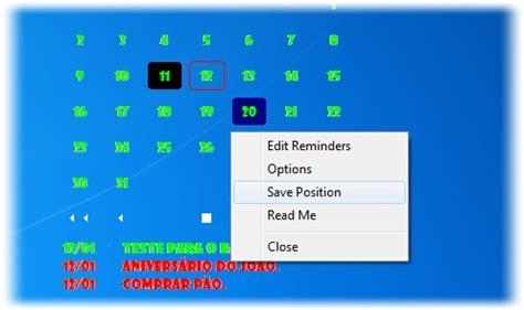 Calendario Area De Trabalho Desktop Calendar