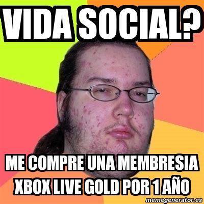 meme friki vida social me compre una membresia xbox