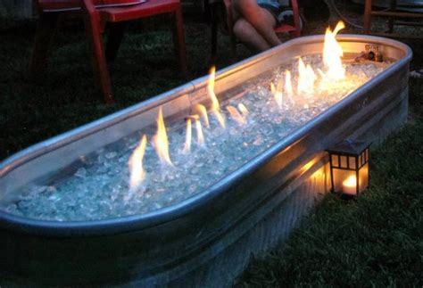 diy pit trough 15 cool diy galvanized tubs ideas for your backyard the in