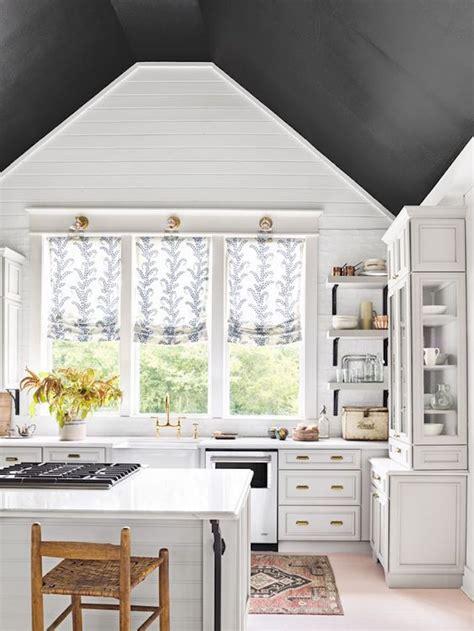 Best White Paint For Dark Rooms Painting Trend Black Ceilingsbecki Owens