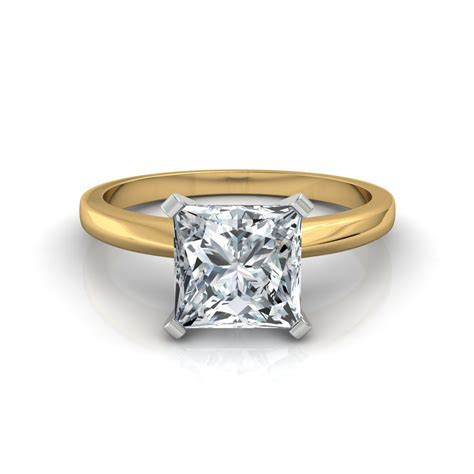 classic princess cut engagement ring