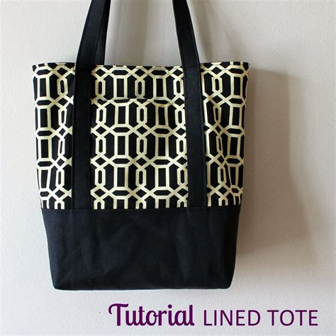 tutorial tote bag with pockets the inspired wren tutorial lined canvas tote
