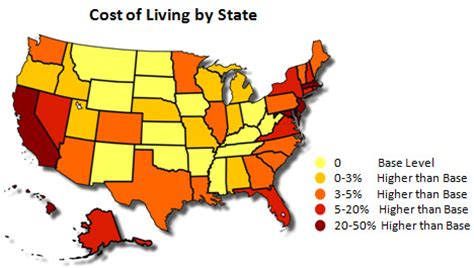 most affordable states to live in infinite musings considering cost of living in a job search