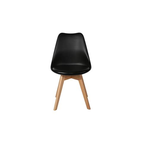Office Dining Chairs Black Modern Eiffel Design Tulip Office Dining Chair Padded Seat