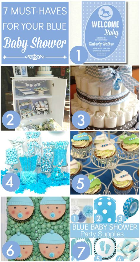 7 must haves for your blue baby shower catch