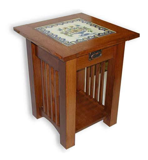 mission style accent table mission style end tables custom made mission style tile