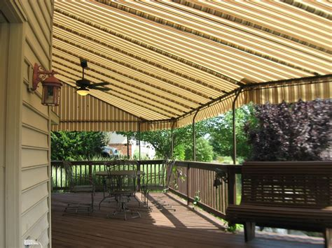 fabric awnings for decks residential deck awning new holland pa kreider s canvas