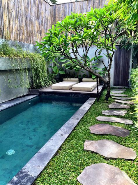 pools in small backyards modern small backyard swimming pools