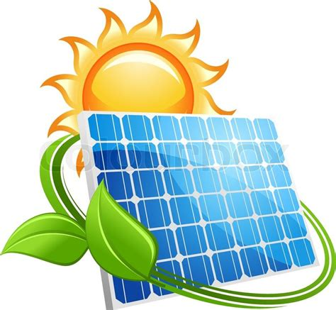 solar panel icon with a golden sun above a