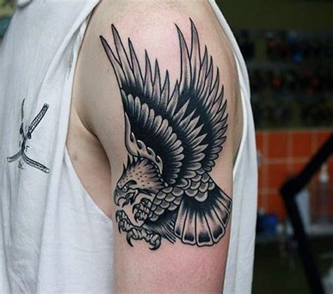 black and grey eagle tattoo 52 eagle shoulder tattoos ideas and meanings