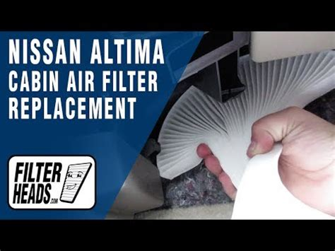 how to replace cabin air filter 2012 nissan altima