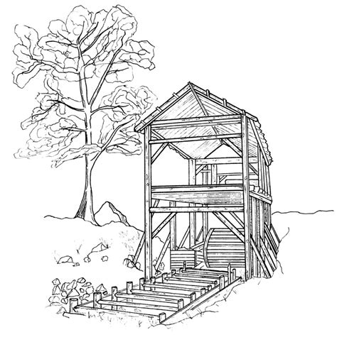 water mill coloring page 10 images of watermill coloring pages windmill coloring