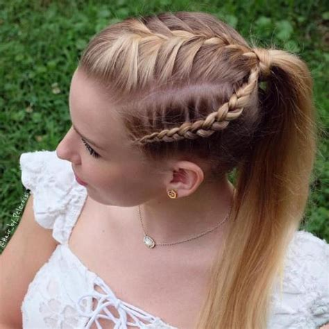 hair braided into pony tail braided ponytail hairstyles 40 cute ponytails with braids