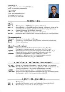 Curriculum Vitae Template Latex by Cv Avec Latex Pierre Fritsch Blog