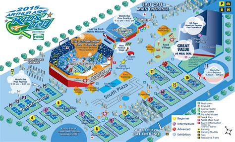 us open tennis map grounds map arthur ashe day