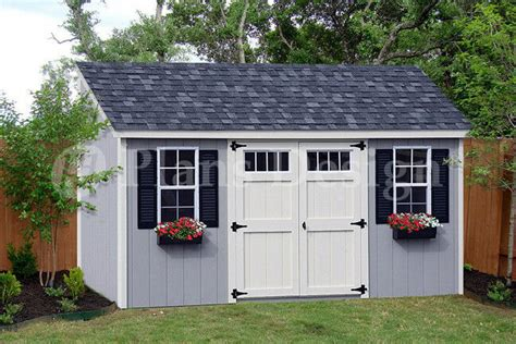 utility garden storage deluxe shed plans lean