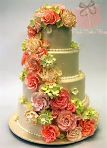 Sweet Sixteen Flower Centerpieces - cascading flowers wedding cake 187 spring wedding cakes